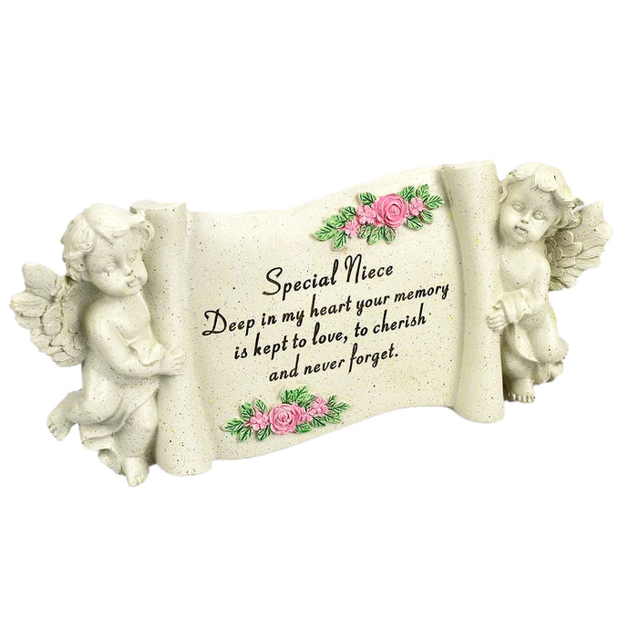 Special Niece Graveside Memorial Scroll Plaque
