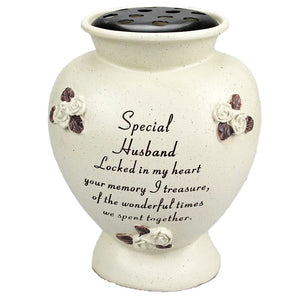 Special Husband Rounded Rose Detailed Flower Vase