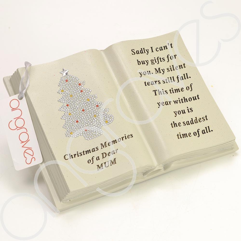 Special Mum Pretty Christmas Tree Memorial Book Plaque With Verse