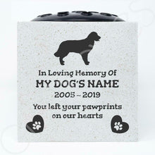 Load image into Gallery viewer, Golden Retriever Personalised Pet Dog Graveside Memorial Flower Vase - Angraves Memorials