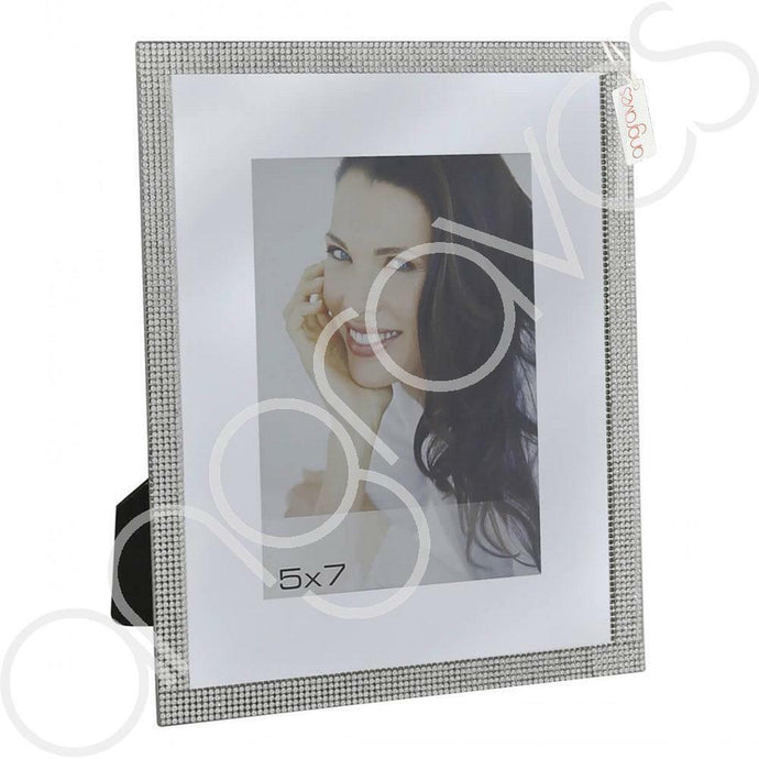 Silver Glitz Diamante Photo Frame (5 x 7 Inch) - Angraves Memorials
