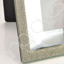 Load image into Gallery viewer, Silver Glitz Diamante Photo Frame (5 x 7 Inch) - Angraves Memorials