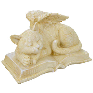 Peaceful Sleeping Pet Cat Angel Memorial Book Ornament