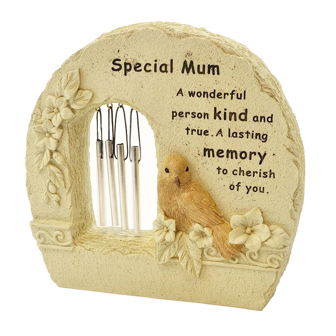 Special Mum Robin Wind Chime Memorial Plaque Ornament