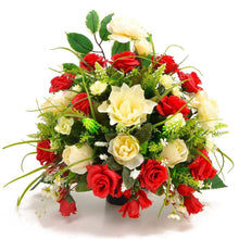 Load image into Gallery viewer, Sirius  Red White Rose Artificial Flower Arrangement