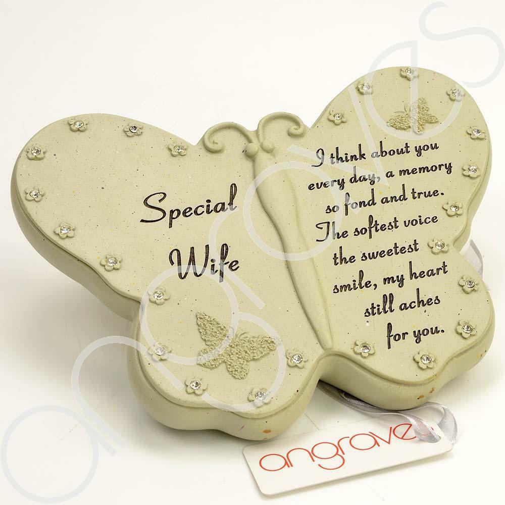 Special Wife Diamante Flower Butterfly Ornament