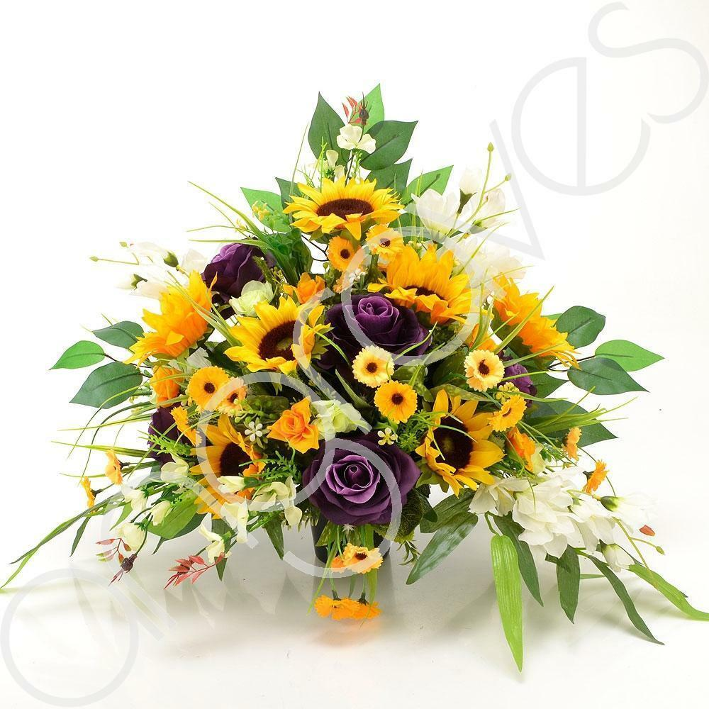 Soleil Yellow Sunflower Memorial Arrangement