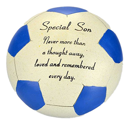 Special Son Blue Football Memorial Ornament