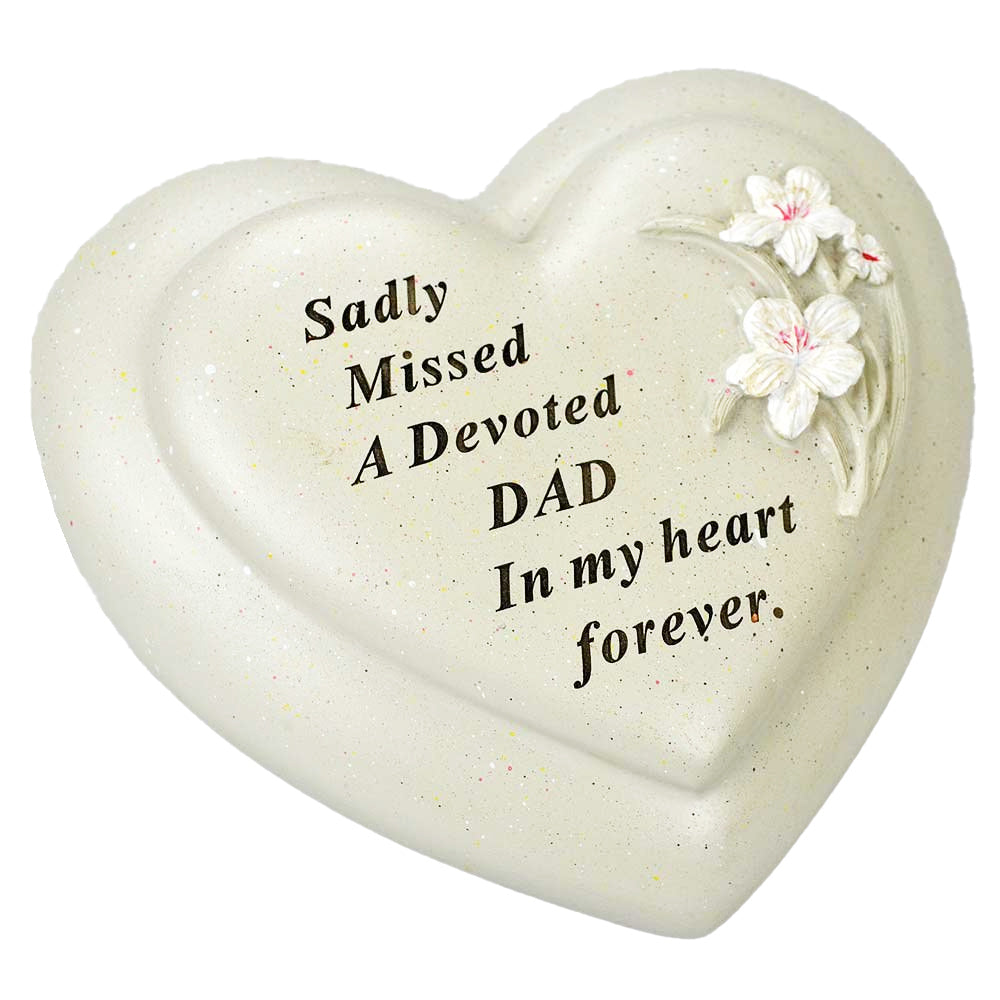 Special Dad Textured Lily Flower Heart Memorial Ornament