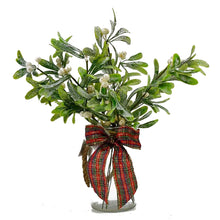 Load image into Gallery viewer, Christmas Glittered Frosted Mistletoe Artificial Flower Arrangement