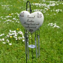 Load image into Gallery viewer, Special Brother Always Loved Sadly Missed Heart Wind Chime - Angraves Memorials