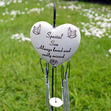Load image into Gallery viewer, Special Son Always Loved Sadly Missed Heart Wind Chime