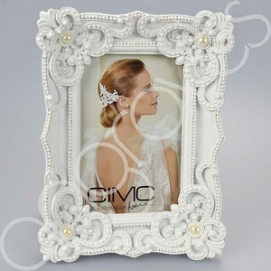 White Elegance Photo Frame (4 x 6 Inch)
