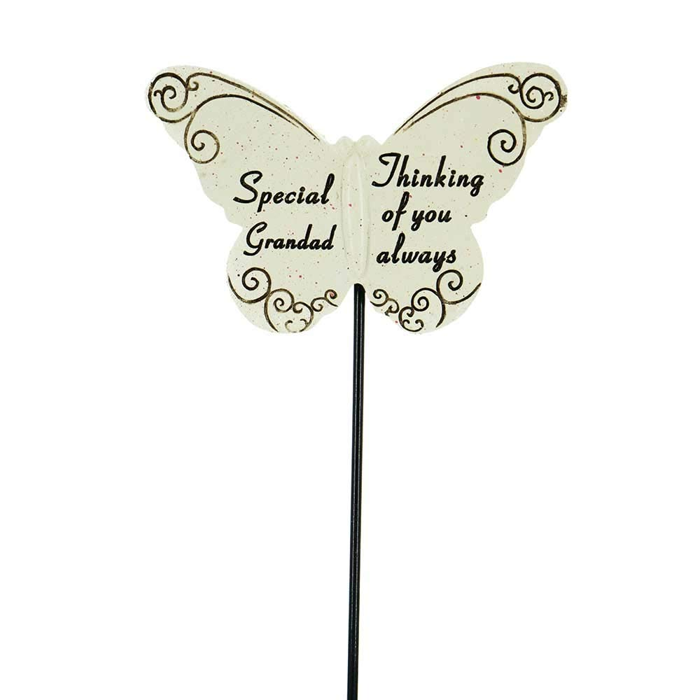 Thinking of you Always Special Grandad Butterfly Memorial Remembrance Stick
