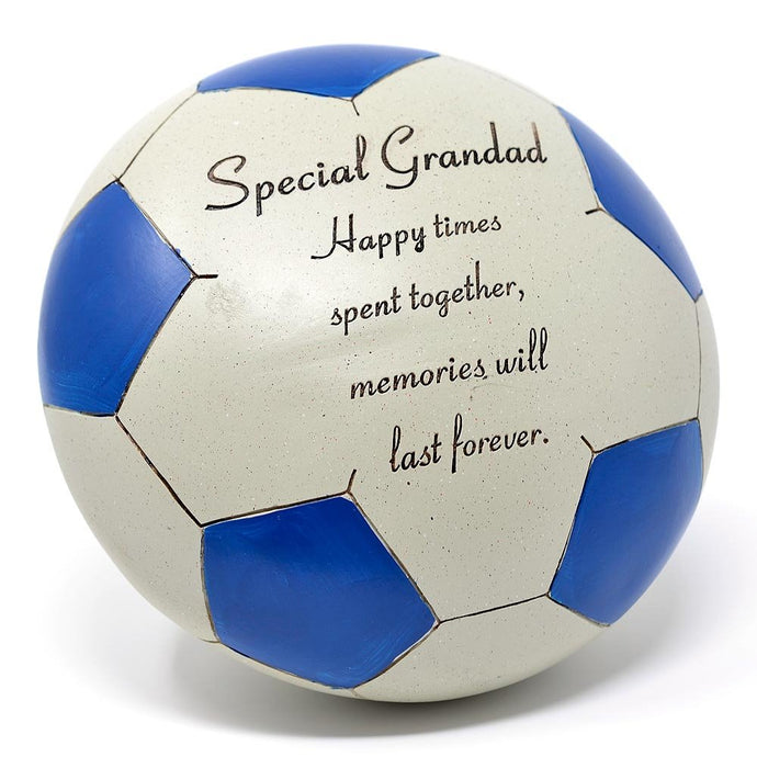 Special Grandad Blue Football Memorial Ornament