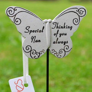 Thinking of you Always Special Nan Butterfly  Memorial Remembrance Stick