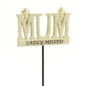 Sadly Missed Mum Angel Memorial Remembrance Stick
