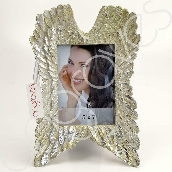 Mother of Pearl Angel Wing Photo Frame (5 x 7 inch) - Angraves Memorials