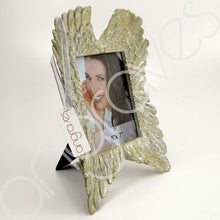Load image into Gallery viewer, Mother of Pearl Angel Wing Photo Frame (5 x 7 inch) - Angraves Memorials