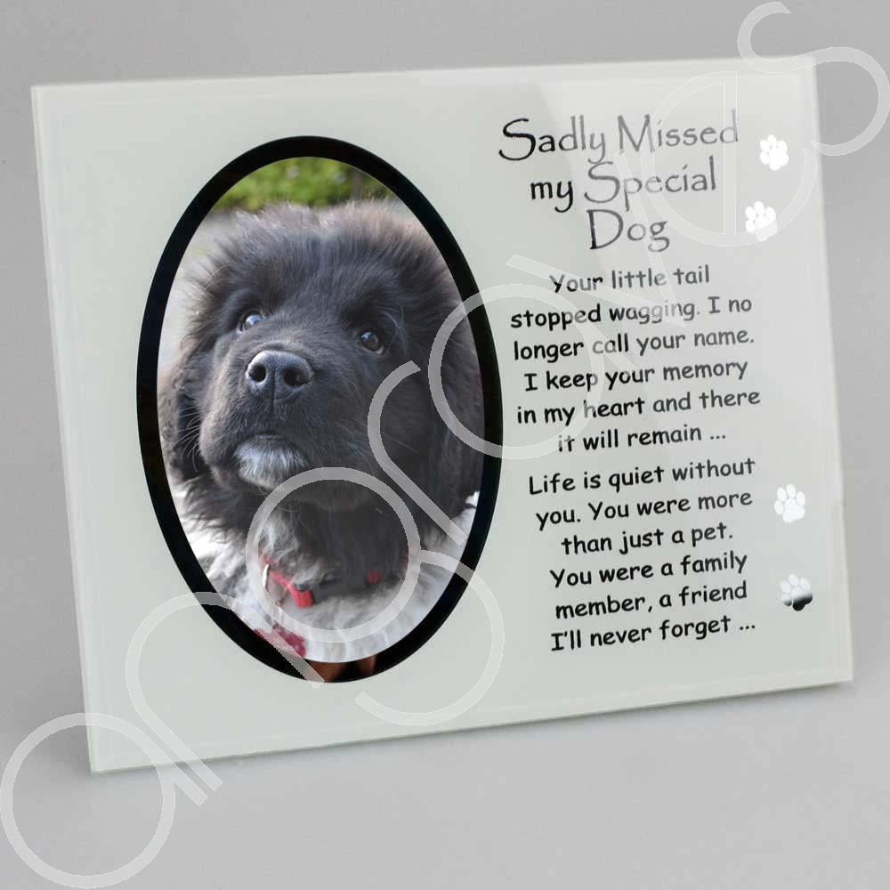 Sadly Missed My Special Dog Pet Photo Frame (4 x 6 inch) - Angraves Memorials