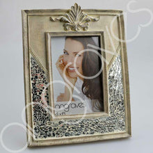 Load image into Gallery viewer, Natural Stone and Silver Glass Mosaic Photo Frame (4 x 6 Inch) - Angraves Memorials