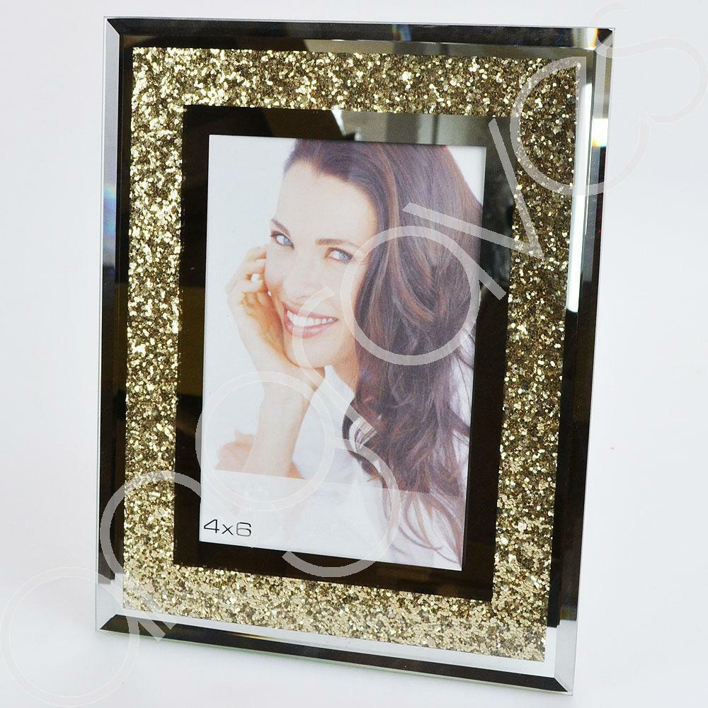 Gold Diamond Crush Photo Frame (4 x 6 inch)