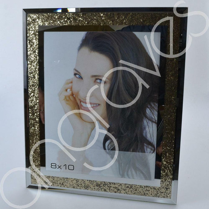 Gold Diamond Crush Sparkle Photo Frame (8 x 10 Inch)