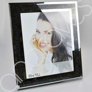 Black Diamond Crush Sparkle Photo Frame (8 x 10 Inch) - Angraves Memorials