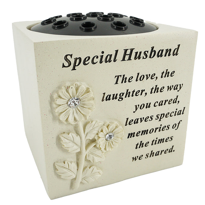 Special Husband Diamante Flower Vase