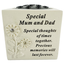Load image into Gallery viewer, Special Mum and Dad Diamante Flower Vase