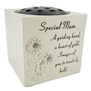 Special Mum Diamante Flower Vase