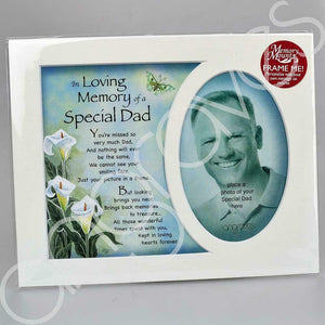 In Loving Memory of a Special Dad Memorial Photo Frame Mount - Angraves Memorials