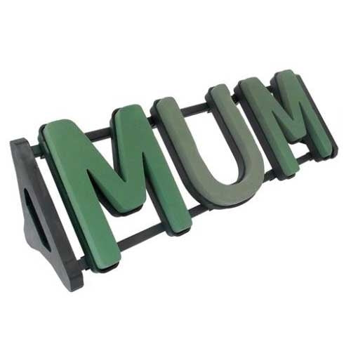Mum Funeral Wet Foam Flower Tribute Stand Florist Memorial Letter