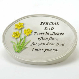 Special Dad Oval Yellow Daffodil Flower Ornament