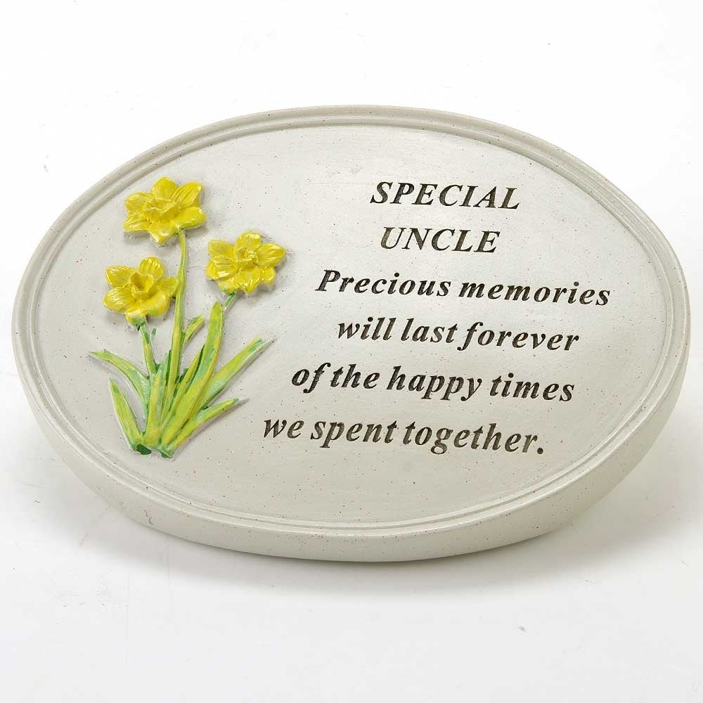 Special Uncle Oval Yellow Daffodil Flower Ornament
