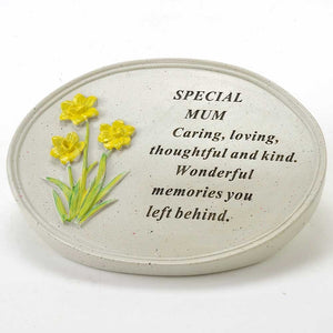Special Mum Oval Yellow Daffodil Flower Ornament