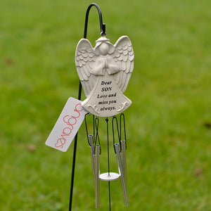 Dear Son Guardian Angel Love And Miss You Always Wind Chime - Angraves Memorials