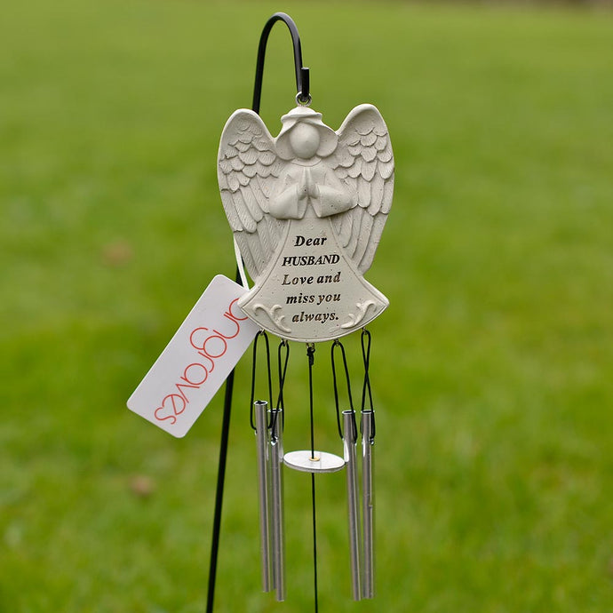 Dear Husband Guardian Angel Love And Miss You Always Wind Chime - Angraves Memorials