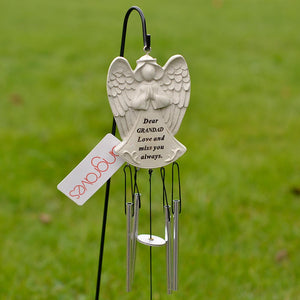 Dear Grandad Guardian Angel Love And Miss You Always Wind Chime - Angraves Memorials