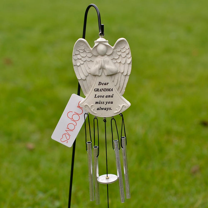 Dear Grandma Guardian Angel Love And Miss You Always Wind Chime - Angraves Memorials