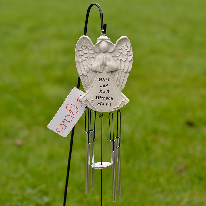 Mum and Dad Guardian Angel Miss You Always Wind Chime - Angraves Memorials
