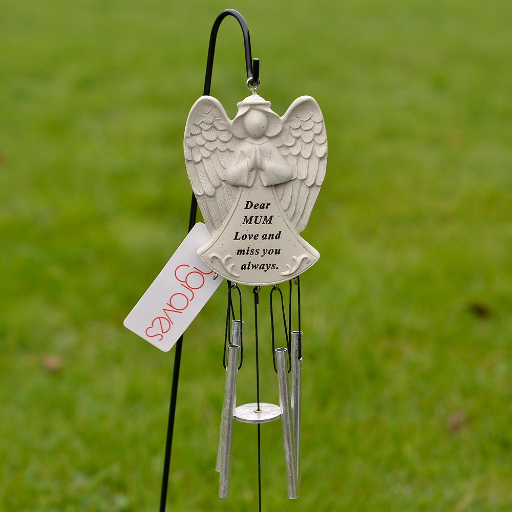Dear Mum Guardian Angel Love And Miss You Always Wind Chime - Angraves Memorials