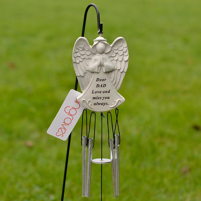 Dear Dad Guardian Angel Love And Miss You Always Wind Chime - Angraves Memorials