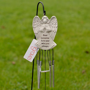 Dear Daughter Guardian Angel Love And Miss You Always Wind Chime - Angraves Memorials