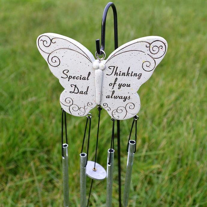 Special Dad Thinking Of You Always Butterfly Wind Chime - Angraves Memorials
