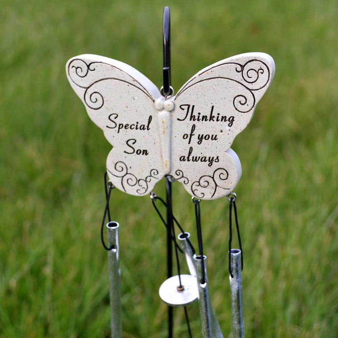 Special Son Thinking Of You Always Butterfly Wind Chime