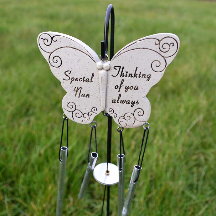 Special Nan Thinking Of You Always Butterfly Wind Chime