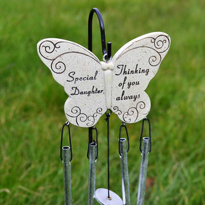 Special Daughter Thinking of you Always Butterfly Wind Chime - Angraves Memorials