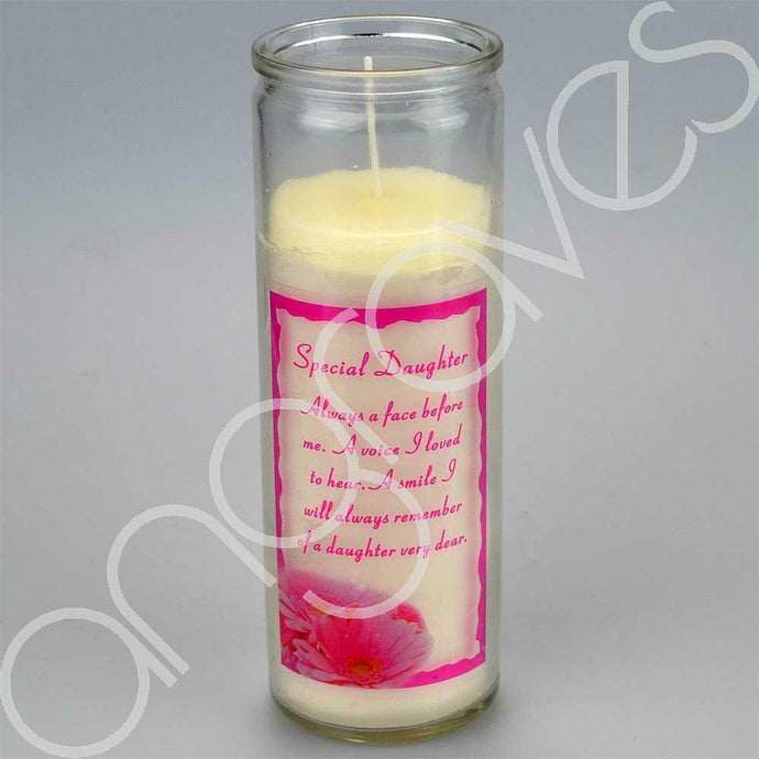 Special Daughter Very Dear Real Wax Memorial Candle - Angraves Memorials