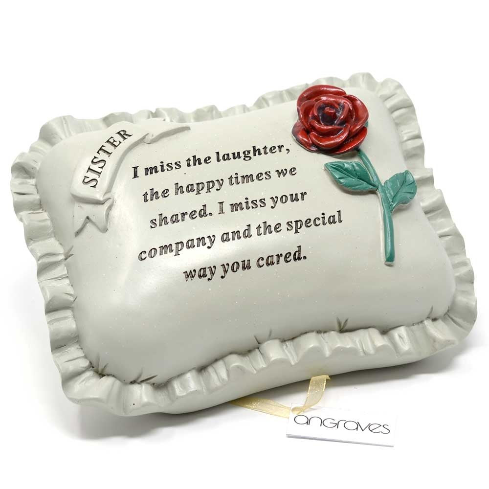 Special Sister With Rose Pillow Graveside Ornament